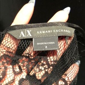 Armani Exchange Dresses - Armani Exchange metallic lace dress size 2